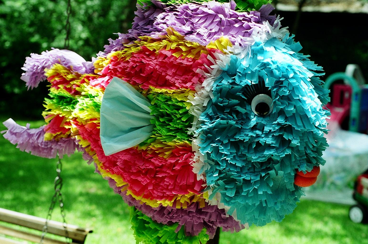 Make a tropical fish pi ata boy for How to make fish